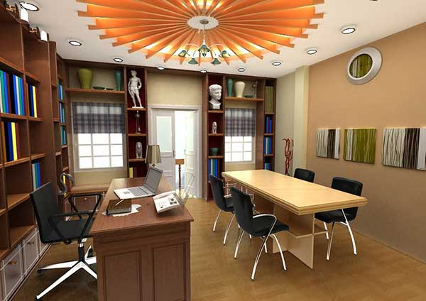 Thiết kế nội thất văn phòng làm việc đề cao tính nghệ thuật