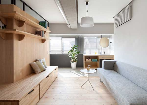 Thiết kế nội thất phong cách Nhật Bản yêu gam màu trắng và sáng