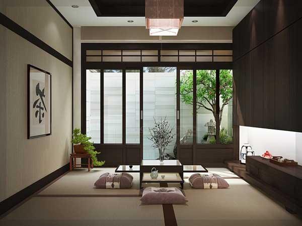 Phong cách Nhật Bản hòa hợp giữa không gian trong và ngoài