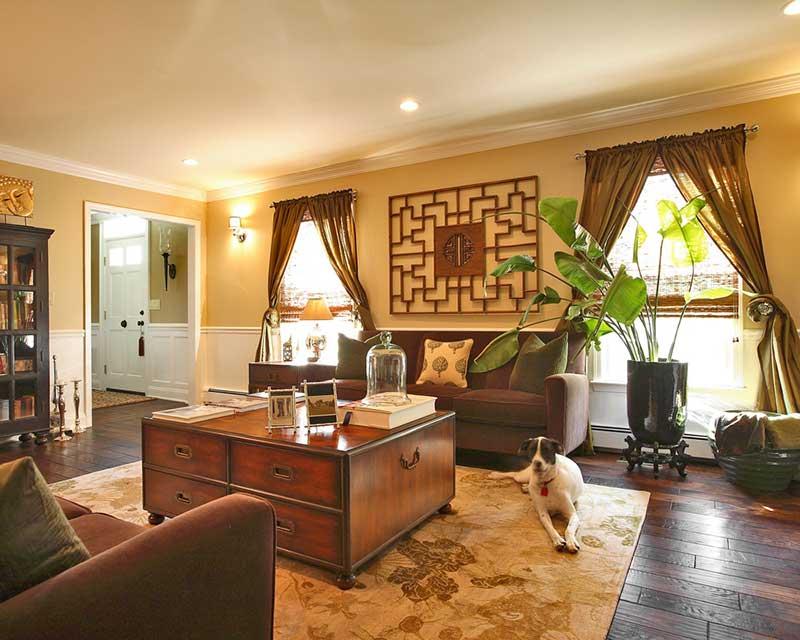 Phong cách nội thất Á Đông sử dụng vật liệu gần gũi với tự nhiên.
