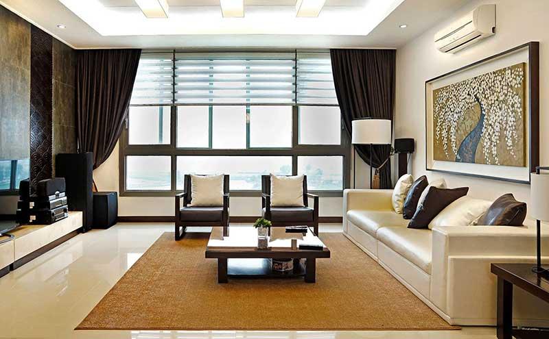 Phong cách thiết kế nội thất Á Đông sắp đặt gọn gàng, khoa học.