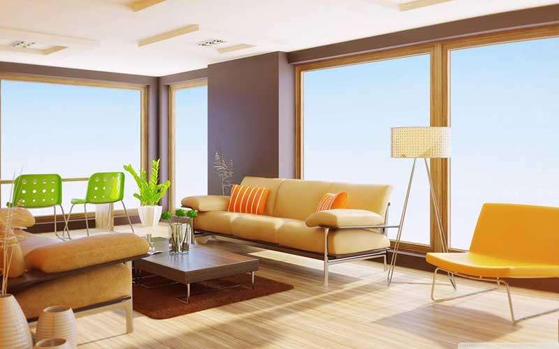 Phong cách thiết kế nội thất đương đại sử dụng vật liệu độc đáo, nổi bật.