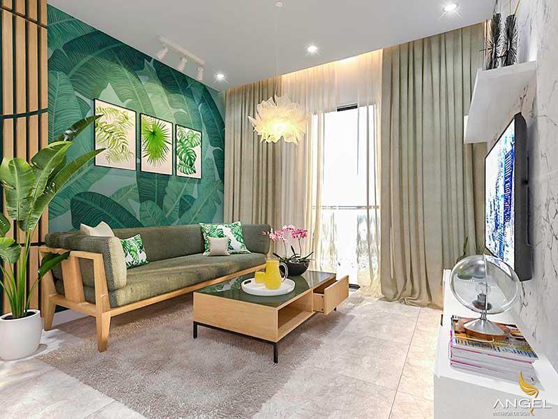 Tơ lụa và đồ gỗ là chất liệu được ưu chuộng nhất trong phong cách thiết kế nội thất Tropical.