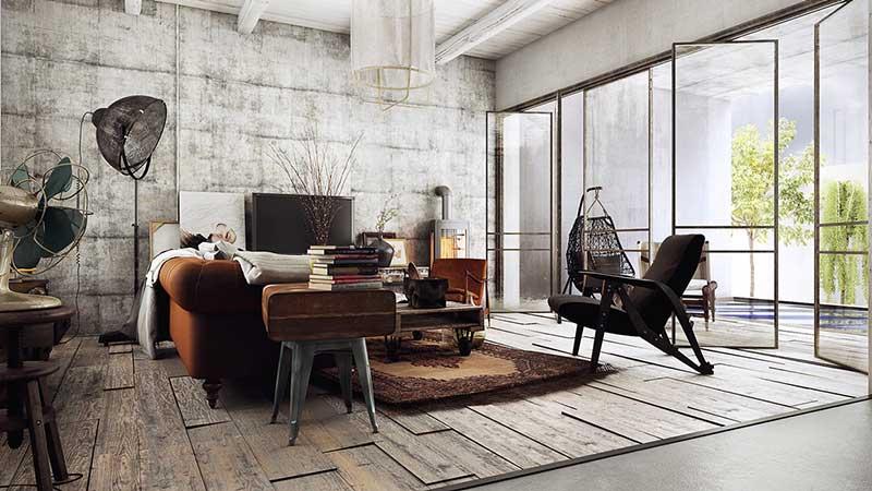 Đa phần nội thất trong cách thiết kế Vintage đều là đồ cũ, đồ cổ, có sự in hằn của dấu ấn thời gian.