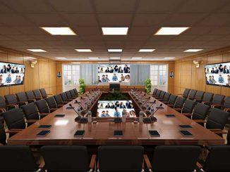 Thiết kế phòng họp trực tuyến chuyên nghiệp, tiện nghi cần lưu ý gì?