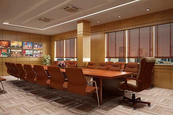 Nội thất sử dụng trong thiết kế phòng họp trực tuyến
