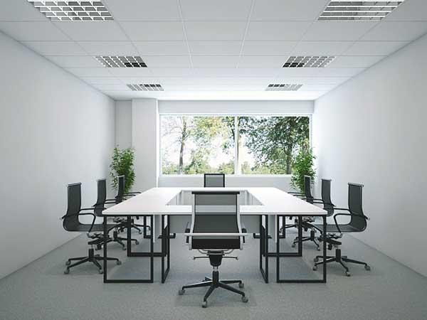 Sử dụng nội thất phòng họp mang kiểu dáng thiết kế đơn giản