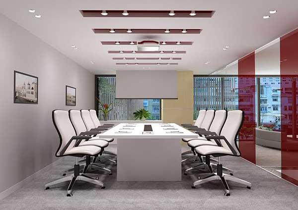Dùng vách ngăn kính cho thiết kế phòng họp không gian nhỏ