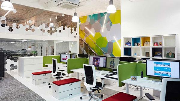 Màu sắc vách ngăn văn phòng giá rẻ