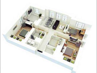 Các mẫu thiết kế nội thất chung cư 3 phòng ngủ đẹp, tiện nghi