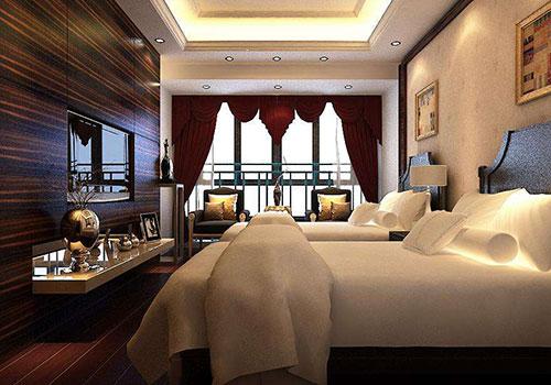 Khu vực phòng ngủ khách sạn là khía cạnh tiếp theo chúng ta cần quan tâm khi thiết kế nội thất khách sạn 5 sao
