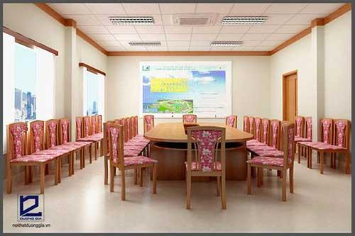 Sử dụng màu sắc mang sắc thái nhẹ nhàng khi trang trí phòng họp đẹp nhỏ
