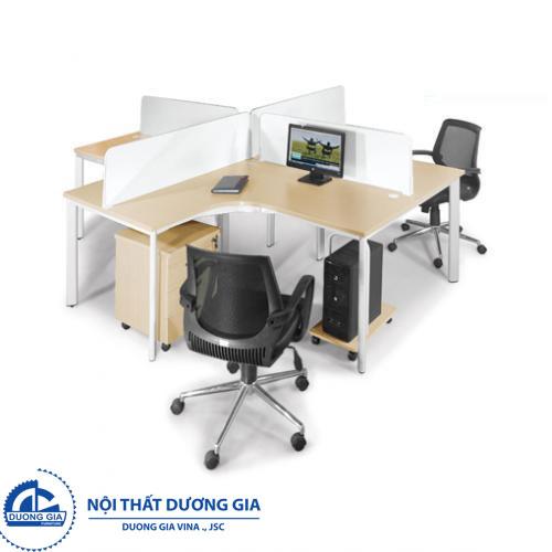 Mẫu bàn làm việc văn phòng đẹp Hà Nội BLCO14-4