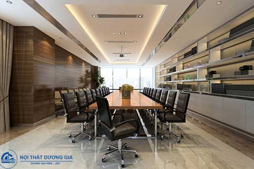 Sử dụng vật liệu có nguồn gốc rõ ràng trong thiết kế phòng họp đẹp