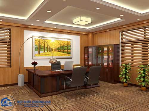 Bài trí thêm các vật dụng phong thủy khi trang trí phòng làm việc của sếp