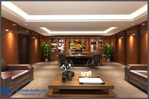Mẫu thiết kế phòng làm việc của tổng giám đốc GD-DG15