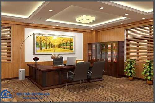 Thiết kế phòng giám đốc đẹp, tiện nghi GD-DG12