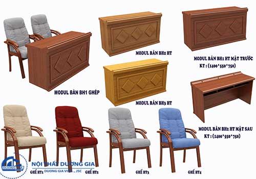 Báo giá bộ bàn ghế hội trường gỗ tự nhiên giá rẻ, có cam kết bảo hành