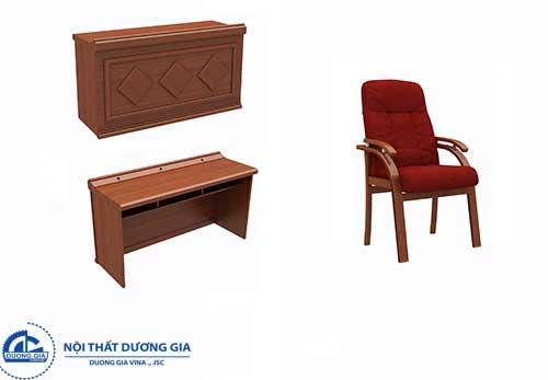 Mẫu bàn ghế hội trường gỗ tự nhiên BGHT-GTN03