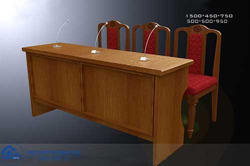 Mẫu bàn ghế hội trường gỗ tự nhiên đẹp BGHT-GTN01