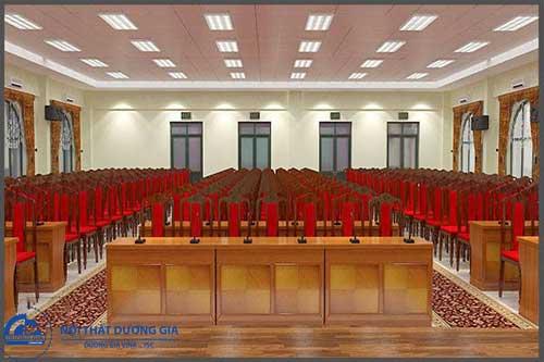 Thiết kế nội thất phòng hội trường HT-DG07