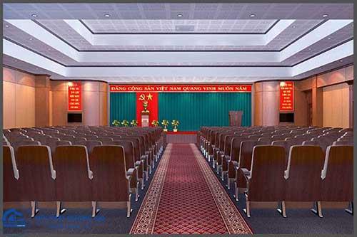 Mẫu thiết kế thi công nội thất hội trường HT-DG01