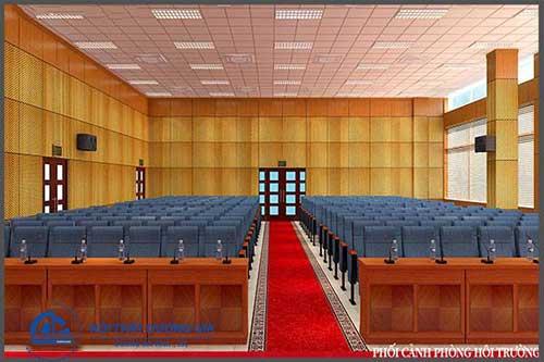 Mẫu thiết kế thi công nội thất hội trường HT-DG13