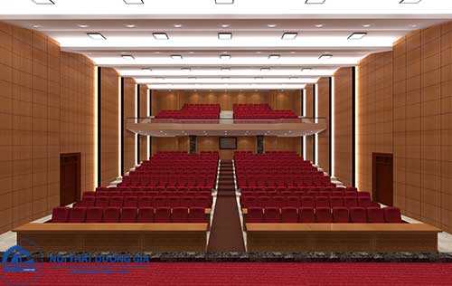 Thiết kế nội thất phòng hội trường HT-DG23