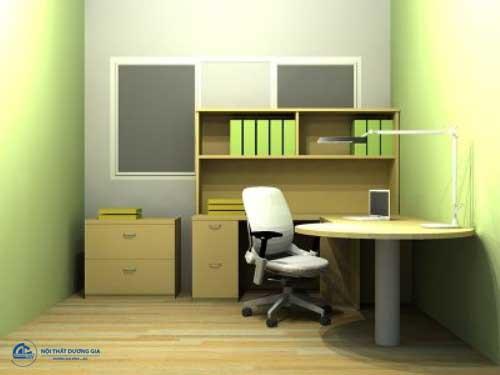 Thiết kế văn phòng công ty nhỏ ấn tượng với màu sắc trẻ trung