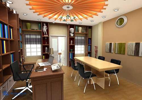 Mẫu thiết kế văn phòng 30m2 sang trọng