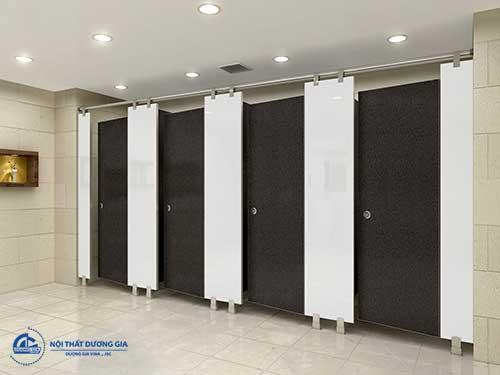 Mẫu vách ngăn nội thất cho khu vực vệ sinh đẹp, tiện nghi