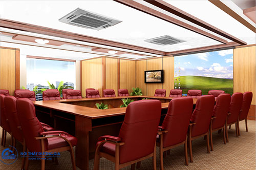 Cách sắp xếp đồ nội thất phòng họp đẹp