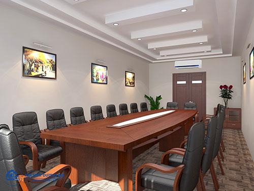 Khoảng cách giữa các đồ nội thất phòng họp sang trọng