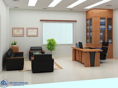 Nội thất phòng Giám đốc thể hiện rõ phong cách thiết kế của không gian