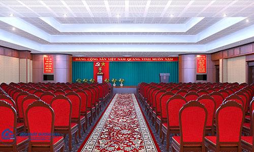 Bố trí khu vực khán giả khoa học là tiêu chuẩn thiết kế hội trường 200 chỗ quan trọng