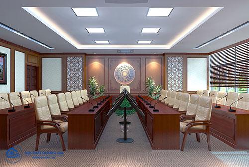 Giá bộ bàn ghế họp văn phòng phụ thuộc vào kiểu dáng thiết kế