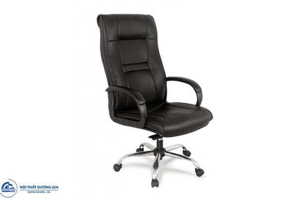 Mẫu ghế ngồi văn phòng bọc da - ghế GX201B-M