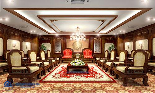 Thiết kế nội thất phòng khánh tiết giá thành hợp lý, chế độ ưu đãi tốt
