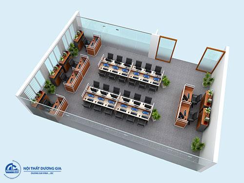 Thiết kế phòng làm việc 100m2 phù hợp với điều kiện tài chính