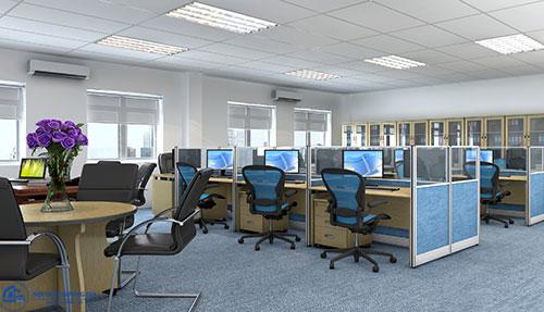 Thiết kế văn phòng 100m2 cần tạo sự thông thoáng, tiện nghi