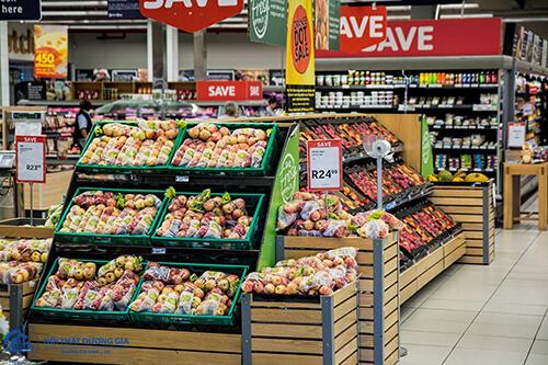 Thiết kế siêu thị mini hay siêu thị lớn đều cần trưng bày hàng hóa tạo sự đa dạng để câu khách