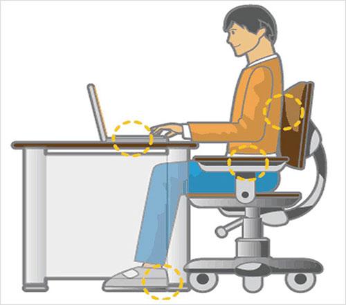 Tư thế ngồi làm việc đúng như thế nào?