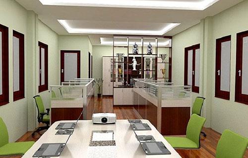Đảm bảo sự cân đối về màu sắc, không gian khi thiết kế văn phòng luật sư