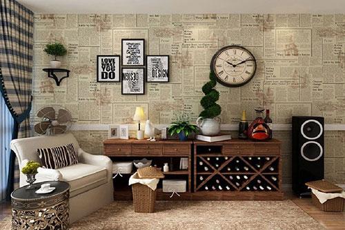 Căn phòng ấn tượng với nội thất retro