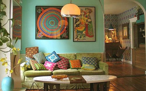 Mẫu không gian nội thất retro độc đáo