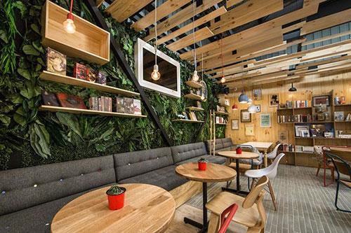 Cách trang trí khi thiết kế nội thất quán cafe hiện đại