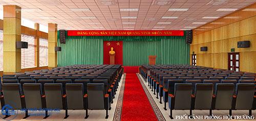 Trang trí sân khấu hội trường phù hợp