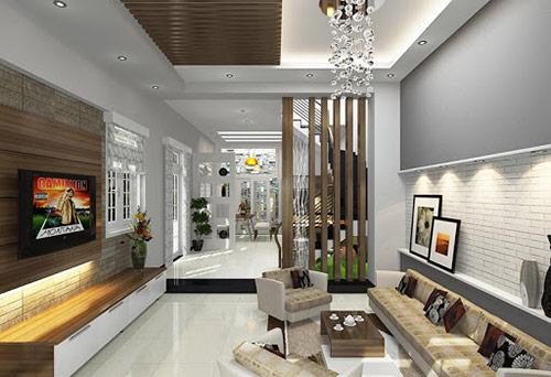 Cách trang trí vách ngăn phòng khách và cầu thang: Chọn kiểu dáng phù hợp