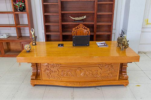 Báo giá bàn làm việc Giám đốc gỗ tự nhiên và bàn gỗ veneer