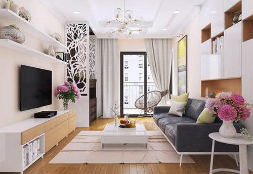 Màu sắc đồ nội thất phòng khách chung cư